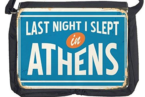 Borsa Tracolla Città Atene Grecia Stampato