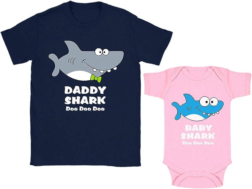 Green Turtle Regalos para Papas Primerizos, Ropa Papa Bebe - Daddy Shark Baby Shark