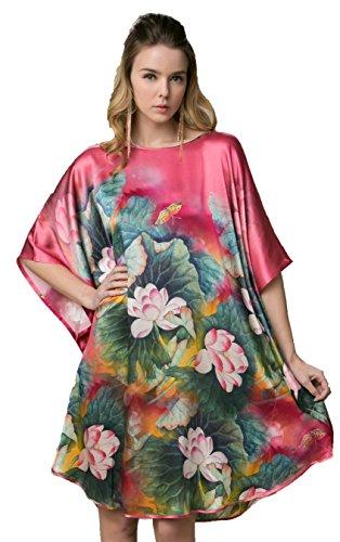 Grace Silk, Lotus, Silk Nightgown, Pink