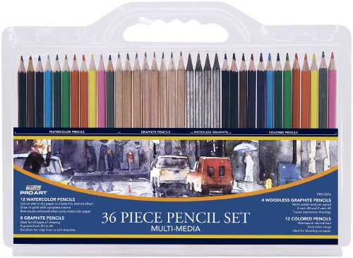 (Pro Art 36-Piece Artist Pencil Set)