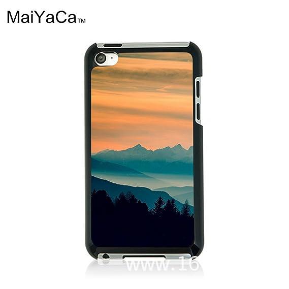 Amazon Com Maiyaca Tm M84426 Blue Mountains Orange Clouds