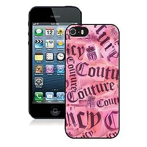 Beautiful Unique Designed iPhone 5S Cover Case With Juicy 07 Black Phone Case