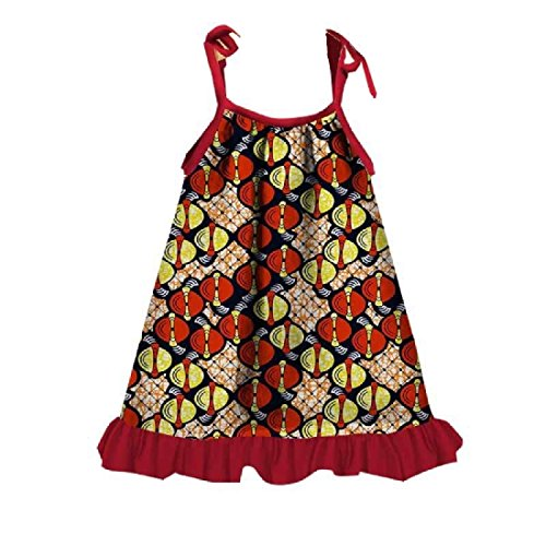 African Girl Dress Print Shoulder Adjustable Three Straps Cute Slip Coolred Comfort FAU4qw1qf