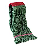 Boardwalk 403GN BWK403GN Mop Head, Premium Standard Head, Cotton/Rayon Fiber, Large, Green (Pack of 12)