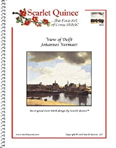 Scarlet Quince VER007 View of Delft by Johannes Vermeer Counted Cross Stitch Chart, Regular Size Symbols