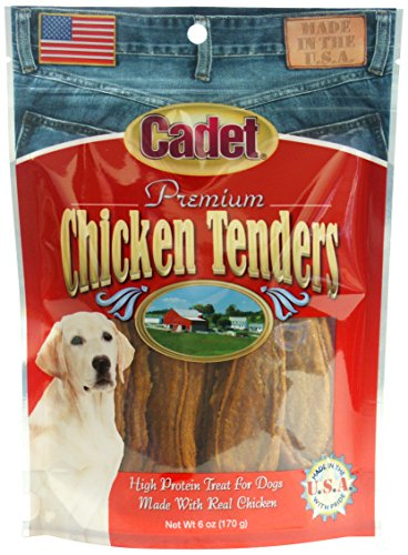 Cadet Premium Chicken Tenders, 6 Ounces, High Protein Dog Treats Made in the USA
