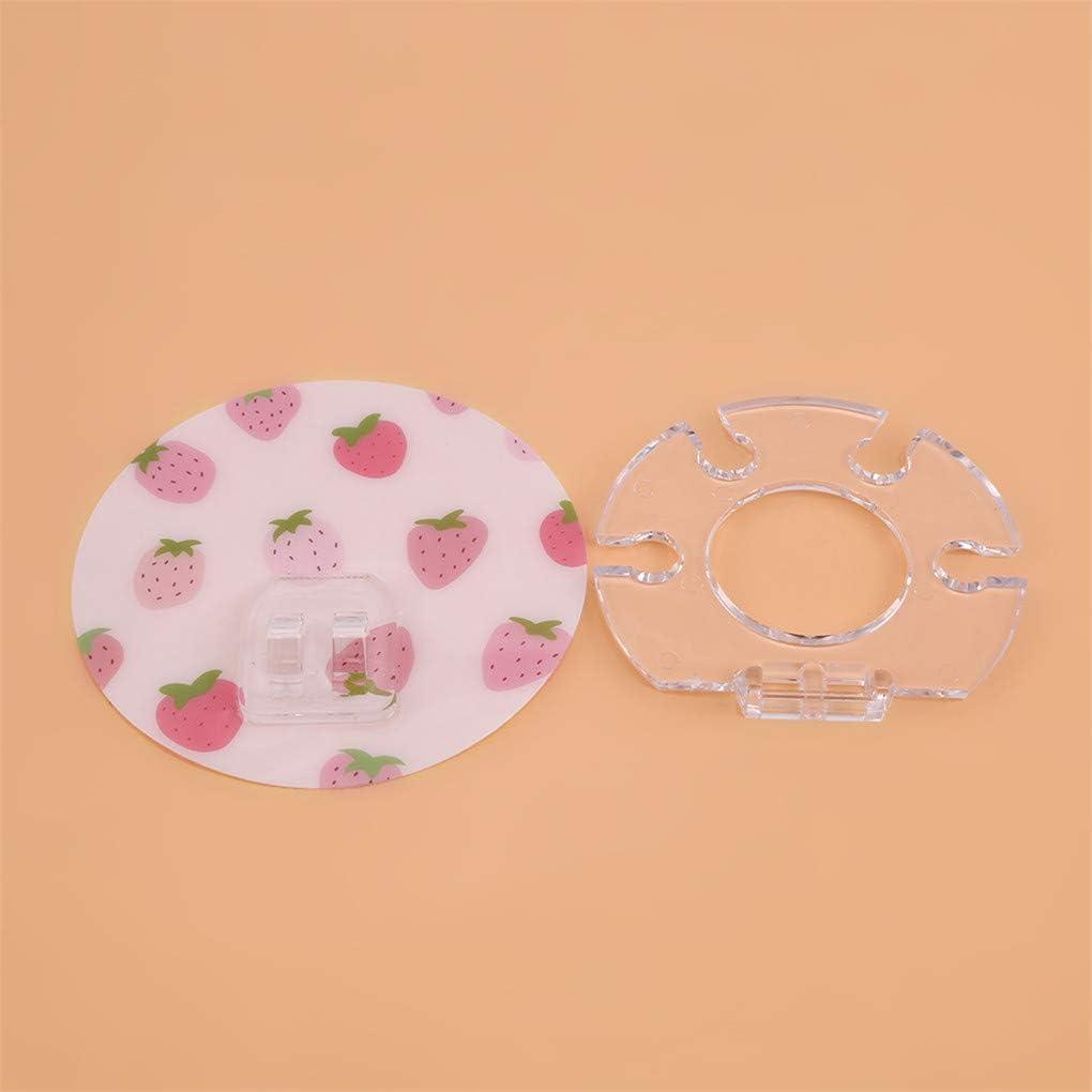 CAVIVI Zahnb/ürstenhalter Starke Paste Zahnpasta Disc Saugn/äpfe Minimalist Kunststoffst/änder f/ür Bad und Dusche Organizer Blume