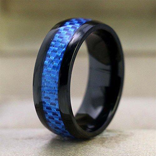 15eeffdf41 LOVERSRING Couple Rings Black Men?¡¥s Stainless Steel Matching Band Women  Black Gold