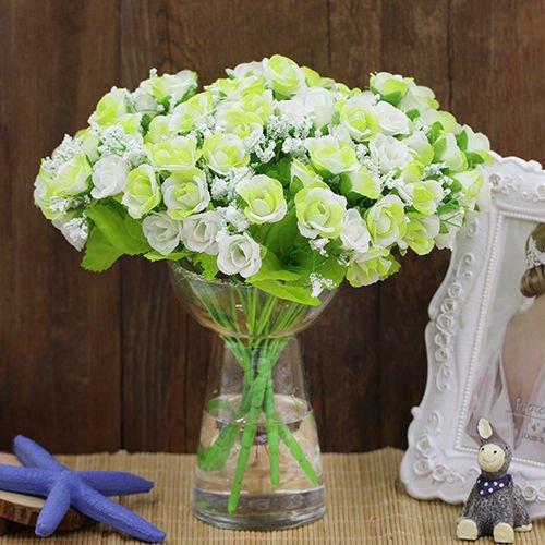 UNAKIM--1 Bouquet Rose Fleur Artificielle Plastique Soie Mariage Bureau Maison Dcor