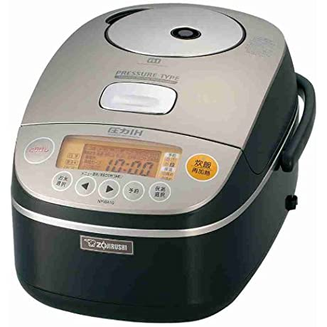 5 5 If Cooked IH Pressure Rice Cooker Brown Metallic ZOJIRUSHI NP BA10 TC
