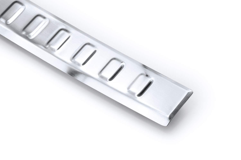 Couleur:Noir bross/é tuning-art L372 Protection de seuil de Coffre Chargement