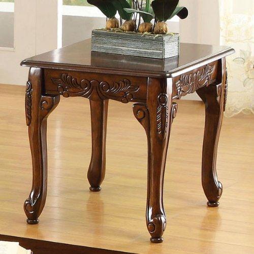 247SHOPATHOME Idf-4914-3PK Living-Room-Table-Sets, Cherry
