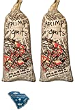 Gullah Gourmet Shrimp and Grits - Mix 2 /11 oz W/ SC Magnet - Contains Fresh Yellow Stone Ground Grits w/ a Gravey Sauce Packet - Enjoy this Charleston South Carolina Mixture Makes a Meal for 4 (2pk)