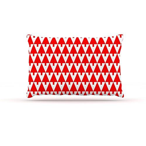 30 by 40\ Kess InHouse Gabriela Fuente Happy X-Mas Green  Illustration Geometric Fleece Dog Bed, 30 by 40
