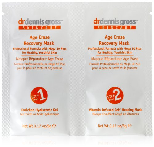 Dr. Dennis Gross Skincare Age Erase Recovery Mask, 6 Count