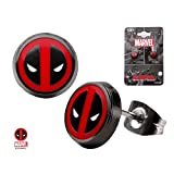Body Vibe Deadpool Logo Round Stud Earrings