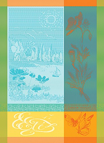 garnier-thiebaut-l-ete-summer-turquoise-22-by-30-french-kitchen-towel-100-two-ply-twisted-cotton-cot