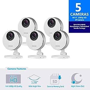 samsung smartcam hd pro 1080p full hd wifi ip camera bundle snh p6410rfm five pack. Black Bedroom Furniture Sets. Home Design Ideas
