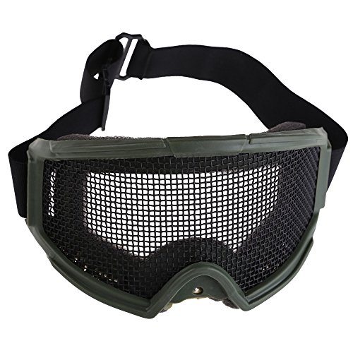 Vktech-Hunting-Airsoft-Tactical-Eyes-Protection-Metal-Mesh-Pinhole-Glasses-Goggle