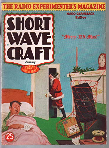 Short Wave Craft 1/1936-Santa/Christmas cover-radio experimenters-VF