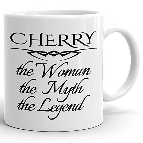 Best Personalized Womens Gift! The Woman the Myth the Legend - Coffee Mug Cup for Mom Girlfriend Wife Grandma Sister in the Morning or the Office - C Set 4