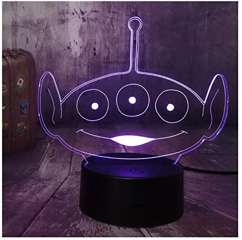 Nachtlichter Squeeze Toy 3D LED Nachtlicht Schreibtischlampe 7 Farbe Kid Toys Room Decor Geburtstagsgeschenk Weihnachtsgeschenk