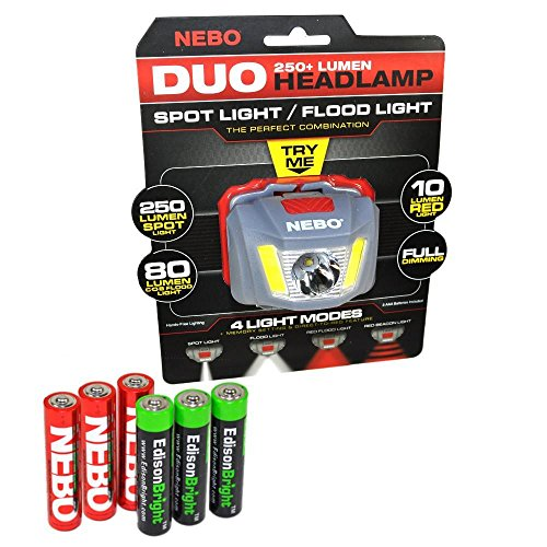 headlamp signal EdisonBright Alkaline batteries product image