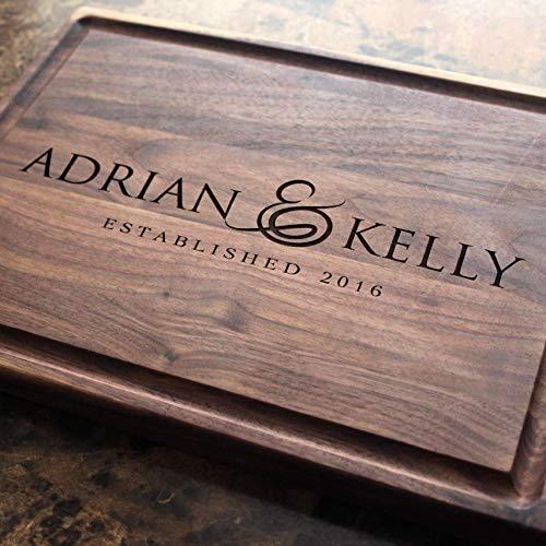 - Personalized Cutting Board, Custom Keepsake, Engraved Serving Cheese Plate, Wedding, Anniversary, Engagement, Housewarming, Birthday, Corporate, Closing Gift #216