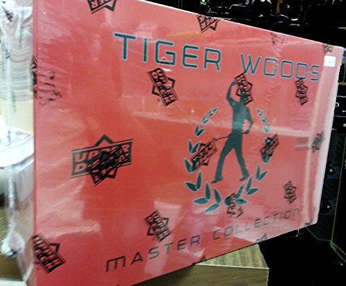 Tiger Woods Master Collection Upper Deck Golf Set MINT in Sealed Box/Pack Auto Autographs x3