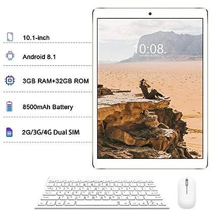 Tablets 10.1 Pulgadas 2 en 1 Tablets PC 4G/WiFi, Android 8.1 Octa ...