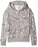 Spotted Zebra Girls' Toddler Zip Front Fleece Zip-up Hoodie, Rainbows, 3T