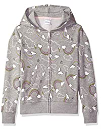 Spotted Zebra girls Fleece Zip-up Hoodies Hooded Sweatshirt