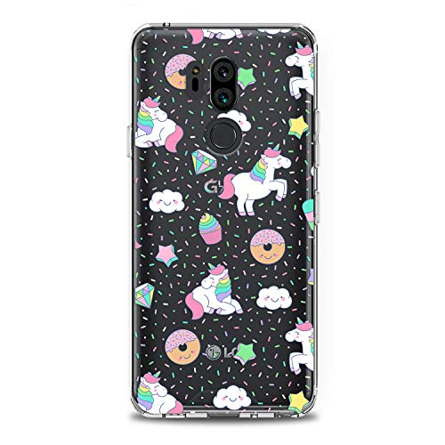 Lex Altern LG TPU Case G7 Fit One ThinQ G6 V40 V35 Plus V30 V20 Q8 K8 White Unicorn Cute Pink Clear Donuts Cover Silicone Durable Print Protective Girl Design Transparent Women Teen Flexible Pattern