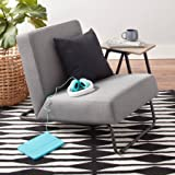 Accent Chair Kickstand Upholstered Fabric Metal Lounge Chair - Best Reviews Guide