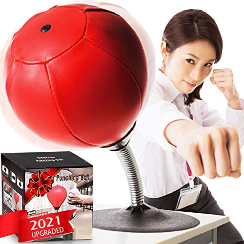 CozyBomB Desktop Punching Bag Gag Gifts for him – Stress Buster Relief Free Standing Desk Table Boxing Punch Ball…