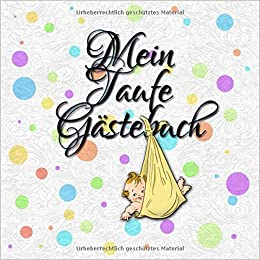Amazonfr Mein Taufe Gästebuch Erinnerungsalbum Und