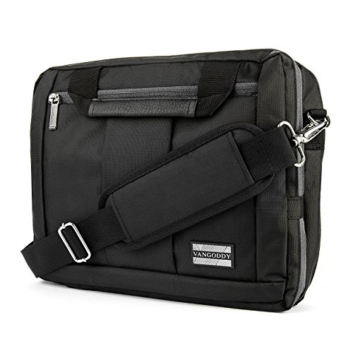 VanGoddy 3-in-1 Black Trim Hybrid Laptop Bag for Dell Inspiron 11 3180 3185 3168/Latitude 12 5290 7285 7275 5285/XPS 12 9250 by Vangoddy