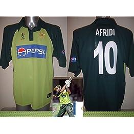 Pakistan Afridi (Pachtounes) Adulte L AJ Sports Bnwot Coupe du monde de cricket pour homme Jersey NEUF