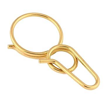 Aesy Solid Brass Keychain Gold Key Ring b09862fd5f