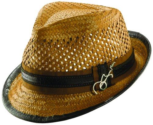 Dorfman Pacific Toyo Carlos Santana Guitar Pin Fedora Hat (Honey, Size - Guitar Pin Hat