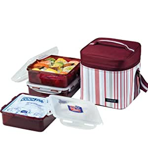 Lock lock lunch box 3 piece set with for Decor 6 piece lunchbox