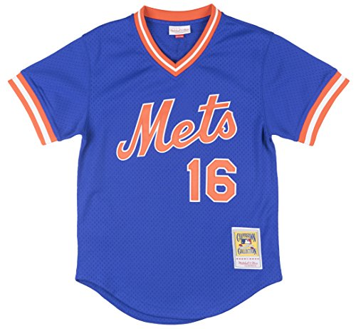 Dwight Gooden New York Mets #16 Men's Mitchell & Ness 1986 Authentic Mesh Batting Practice Jersey (Large (44)) (Batting Mlb Jersey Practice)