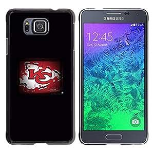 KC Grunge - Metal de aluminio y de plástico duro Caja del teléfono - Negro - Samsung ALPHA G850
