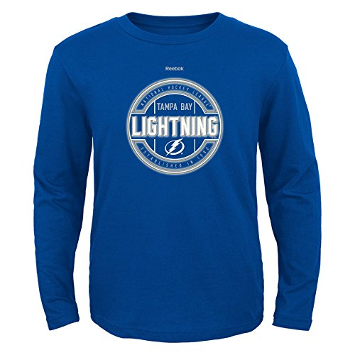 (Outerstuff NHL Tampa Bay Lightning Boys Attacking Zone Performance Long Sleeve Tee, Large/(14-16), Royal )
