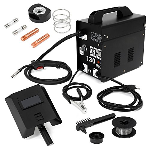 MIG Series Gas-Less Flux Core Wire Welder Welding Machine Automatic Feed Unit DIY (MIG-130)