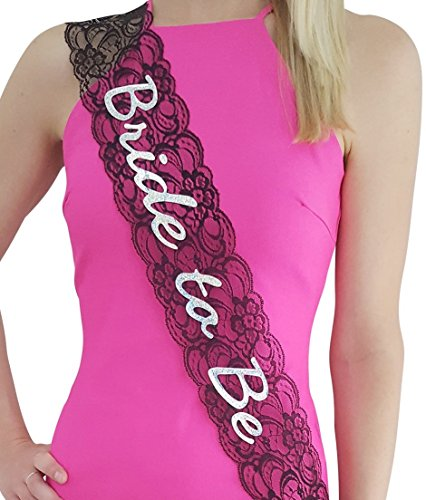 Elegance Garter Set (Bachelorette Sash - Bride to Be - Stylish Lace in White, Pink, or)