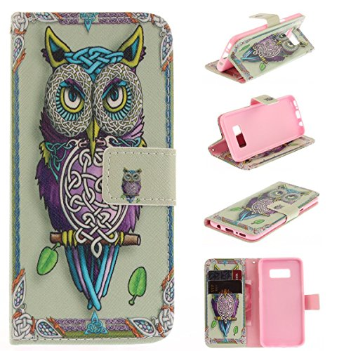Maoerdo Galaxy J7 2015 Case, [Owl][Kickstand Feature][Money Card Slot] [Double Sided Design] Premium Soft TPU Synthetic Leather Wallet Filp Case Cover For Samsung Galaxy J7 2015 J700