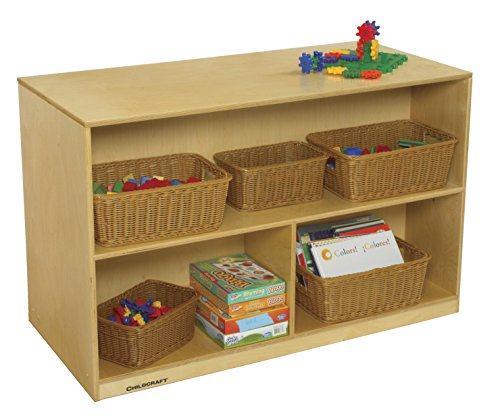 (Childcraft 2601 Mobile Double-Sided Storage Unit, 47-3/4 x 22-1/4 x 30 Inches Height,22.25 Inches Width,47.75 Inches Length,Natural Wood)