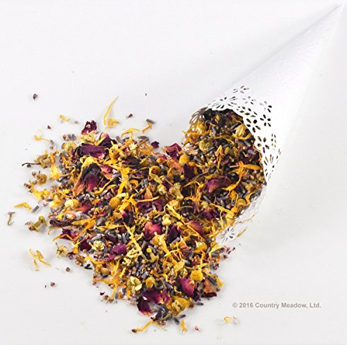 (Country Meadow Flower Wedding Confetti: 5 Blend ~ 8 oz ~ Enough for 30-35 Guests ~ Lavender, Rose, Heather, Calendula, Chamomile ~ GORGEOUS!)