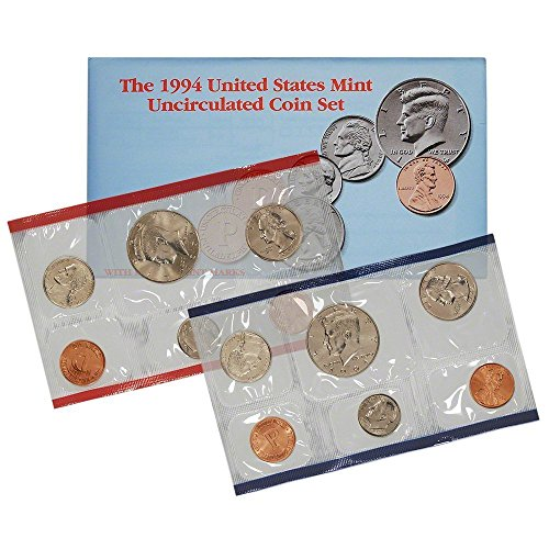 1994 P & D US Mint 10-Coin Mint Set Uncirculated
